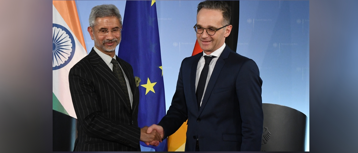External Affairs Minister Dr. S. Jaishankar with Federal Minister of Foreign Affairs Heiko Maas during his visit to Berlin, 18 February 2020.