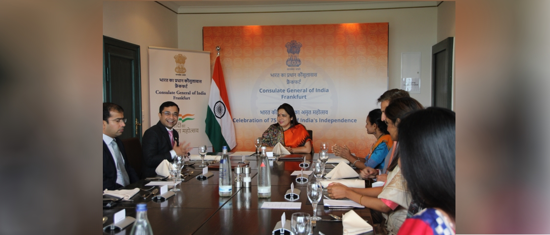Visit of Hon'ble Minister of State for External Affairs and Culture to Frankfurt, Germany