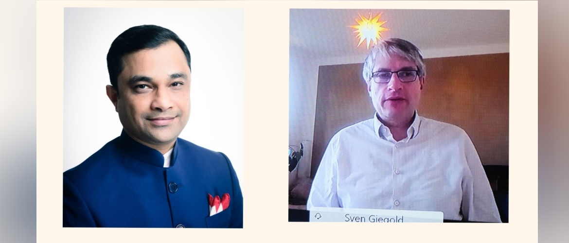 Consul General paid a virtual courtesy call on Mr Sven Giegold, Hon'ble Member of European Parliament on 2nd March 2021 and discussed a range of issues including the COVID-19 pandemic situation.