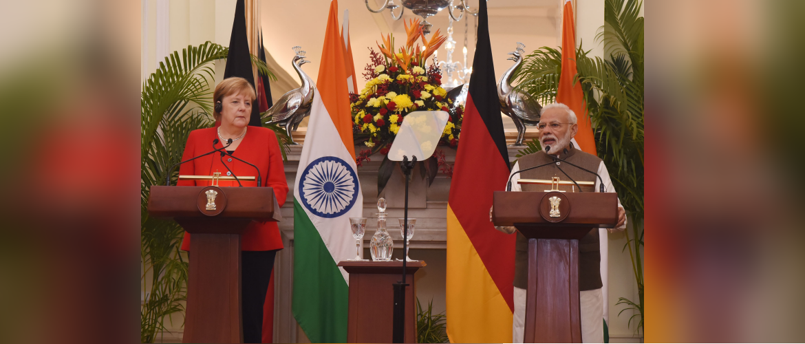 Prime Minister and Angela Merkel, Chancellor of Germany witness the Exchange of Agreements in New Delhi November 01, 2019