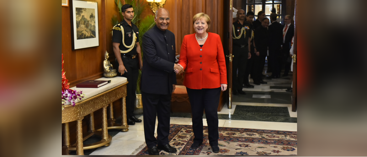 President meets Angela Merkel, Chancellor of Germany in New Delhi during her visit to India November 01, 2019