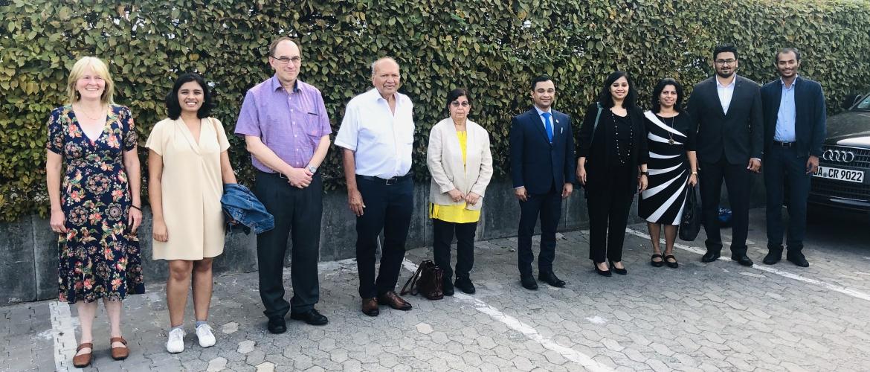 Interaction with Deutsche-Indische Gesellschaft (DIG) Darmstadt-Frankfurt e.V. and Indian Students Association, Darmstadt on 16 September 2020.
