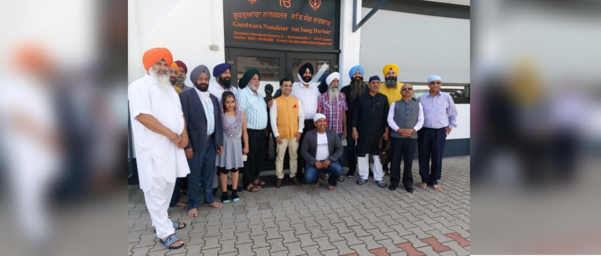 Consul General's visit to Gurudwara Nanaksar in Essen, North Rhine-Westphalia on 23 August 2020