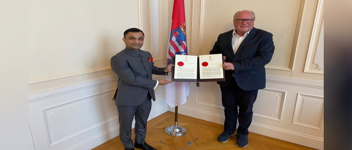 Consul General Dr. Amit Telang paid a Courtesy Call on Mr. Dieter Beine, Chief of Protocol, Hessen Government on 7 September 2020
